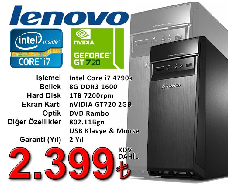 Kampanya Lenovo i7 Bilgisayar 2.399 TL Kdv Dahil